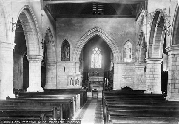 Photo of Leatherhead, Church Interior 1895