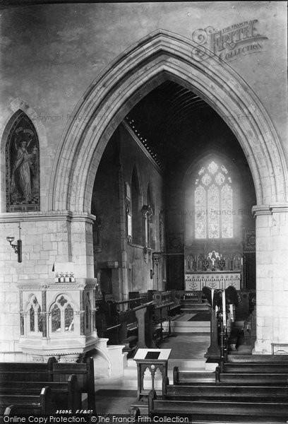 Photo of Leatherhead, Church Interior 1895