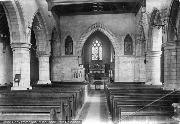 Photo of Leatherhead, Church Interior 1908