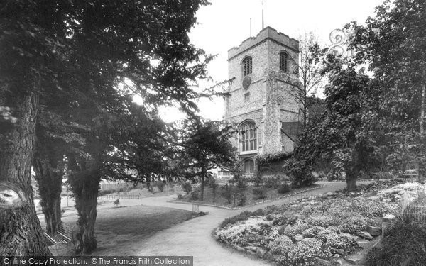 Photo of Leatherhead, Church Of St Mary And St Nicholas And Garden 1928