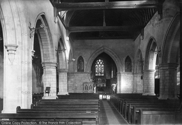 Photo of Leatherhead, Church Of St Mary And St Nicholas Interior 1911