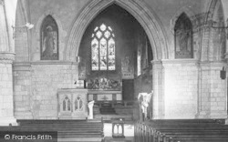 Leatherhead, Church Of St Mary And St Nicholas Interior 1911