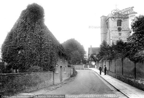 Photo of Leatherhead, Church Road 1906