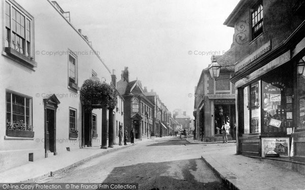 Photo of Leatherhead, High Street 1895