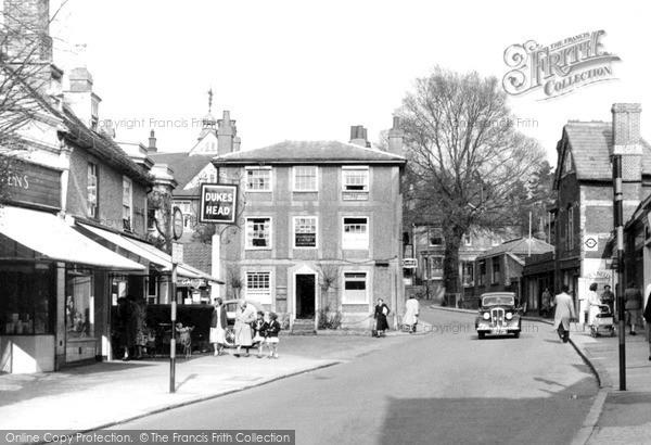 Photo of Leatherhead, High Street c.1955