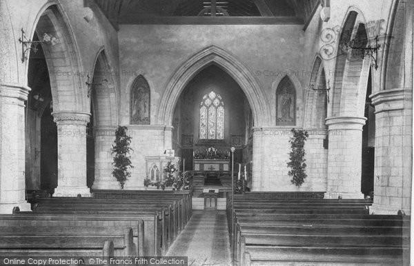 Photo of Leatherhead, Parish Church Interior 1905