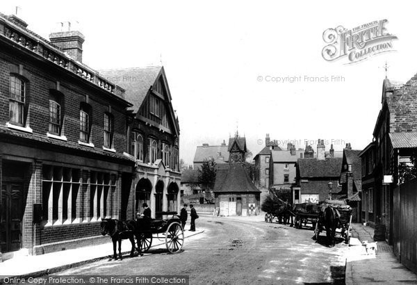 Photo of Leatherhead, Post Office And Town Clock 1895