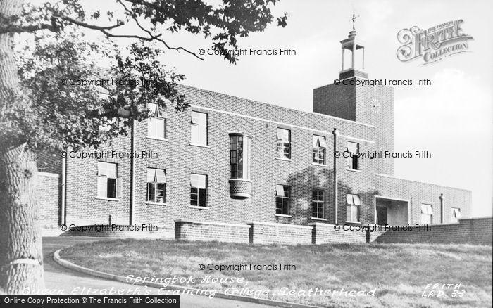 Photo of Leatherhead, Queen Elizabeth Training College, Springbok House c.1955