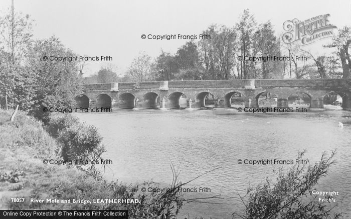 Photo of Leatherhead, River Mole And Bridge 1925