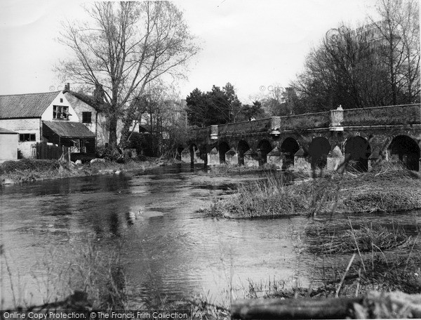 Photo of Leatherhead, River Mole And Bridge c.1955