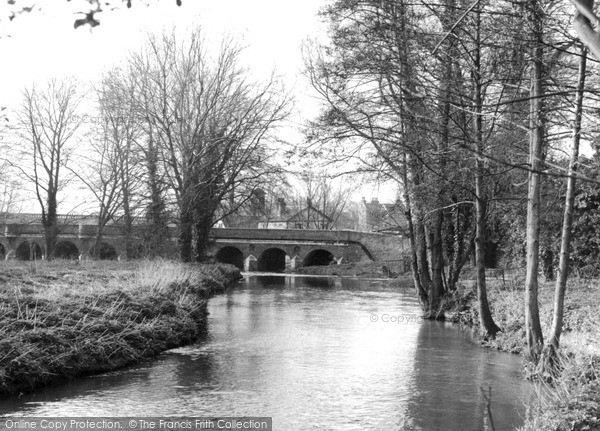 Photo of Leatherhead, River Mole c.1955