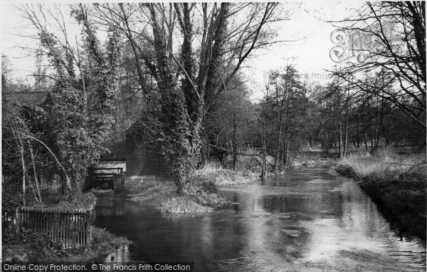 Photo of Leatherhead, River Mole From Bridge Street c.1955