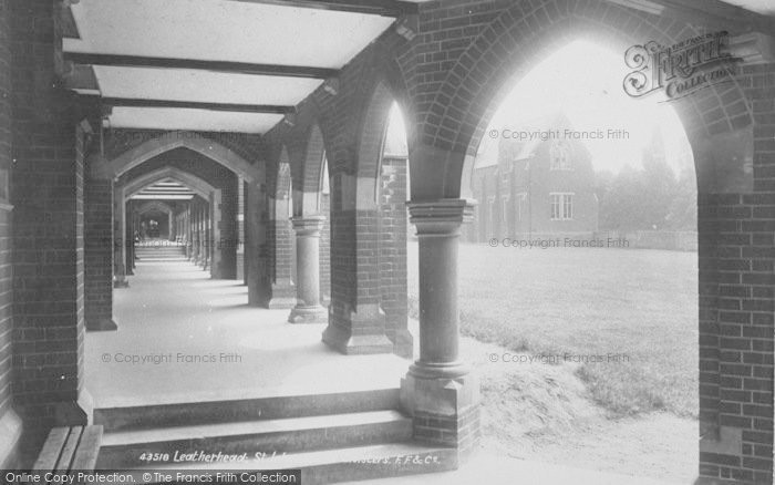 Photo of Leatherhead, St John's College Cloisters 1899
