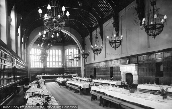Leatherhead, St Johns School, Dining Hall 1899