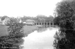 Leatherhead, The Bridge And Church 1888