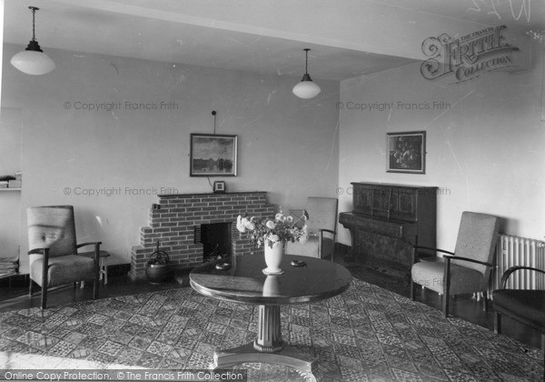 Photo of Leatherhead, The Lounge, Springbok House Queen Elizabeth Training College c.1955