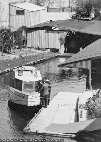 Photo of Lechlade, Boat At The Wharf c.1955