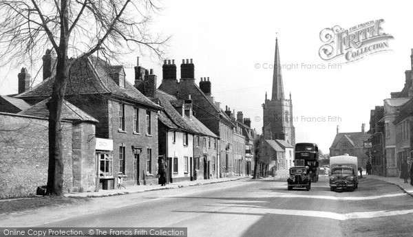 Photo of Lechlade, Burford Street c.1955