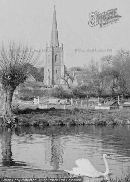 Photo of Lechlade, Church From The River c.1955