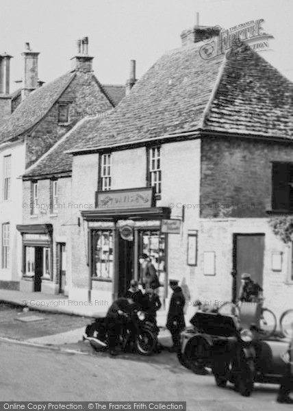 Photo of Lechlade, High Street Shop c.1955