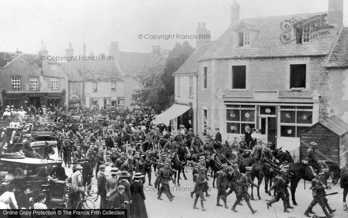 Photo of Lechlade, Infantry Parade 1909