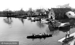 Lechlade, Riverside Tea Gardens c.1955, Lechlade On Thames