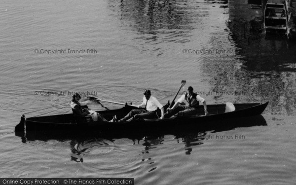 Photo of Lechlade, Rowing On The Thames c.1955