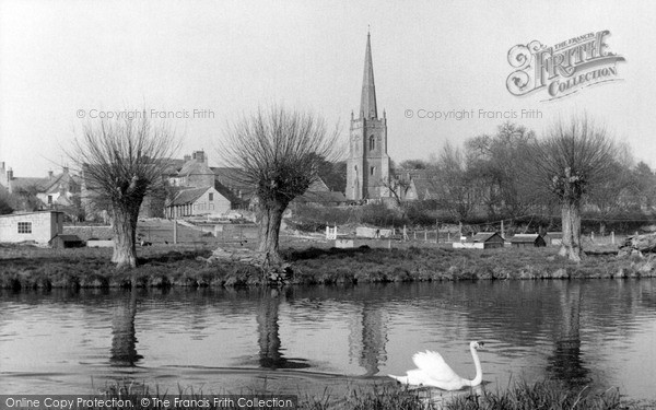 Photo of Lechlade, St Lawrence Church From The River Thames c.1955