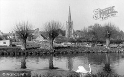 Lechlade, St Lawrence Church From The River Thames c.1955, Lechlade On Thames