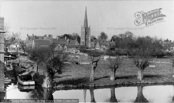Photo of Lechlade, St Lawrence Church From The River Thames c.1960