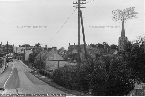 Photo of Lechlade, Town From The Bridge c.1950