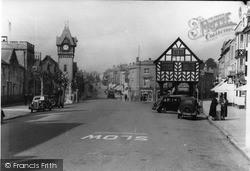 Barrett Browning Memorial And Market House c.1938, Ledbury