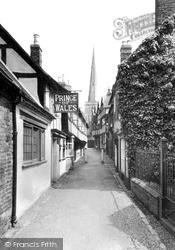 Church Lane c.1955, Ledbury