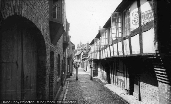 Photo of Ledbury, Church Lane c.1955