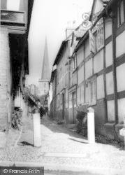 Church Lane c.1960, Ledbury