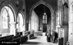 Ledbury, Church, The Chancel c.1875