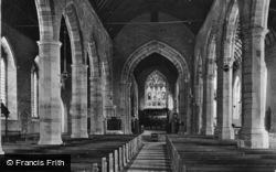 Ledbury, Church, The Nave c.1880