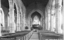 Ledbury, Church, The Nave c.1880
