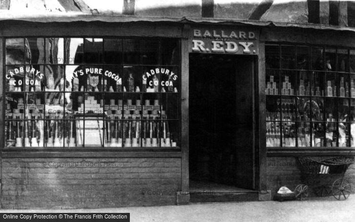 Photo of Ledbury, Grocers, Ballard And R.Edy c.1870