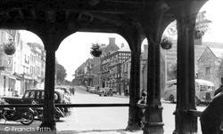 High Street From Market House c.1955, Ledbury