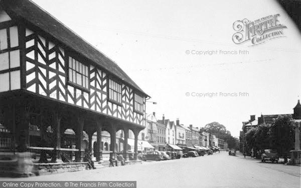 Photo of Ledbury, Market House And High Street c.1955