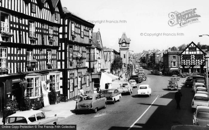 Photo of Ledbury, The Feathers Hotel And High Street c.1965