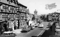 The Feathers Hotel And High Street c.1965, Ledbury