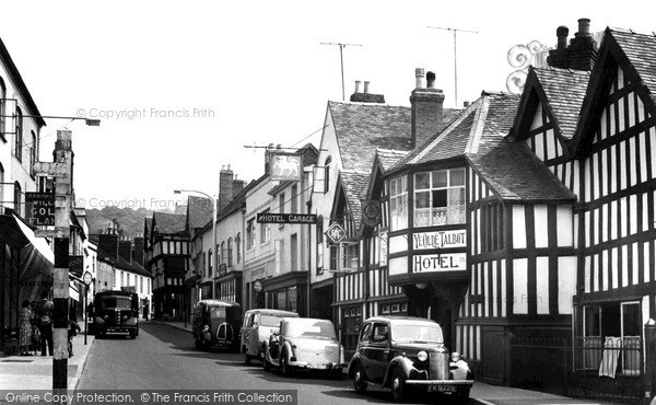 Ledbury, Ye Olde Talbot Hotel c1955
