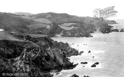 Cliffs, Bull Point In Distance 1890, Lee