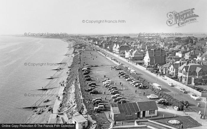 Photo of Lee On The Solent, Looking West From Lee Tower c.1960