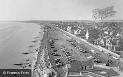 Lee On The Solent, Looking West From Lee Tower c.1960, Lee-on-The-Solent