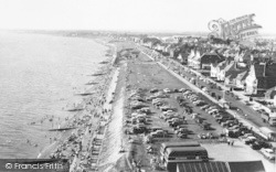 Lee On The Solent, Looking West From Lee Tower c.1960