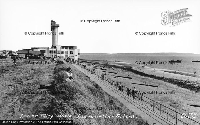 Photo of Lee On The Solent, Lower Cliff Walk c.1960