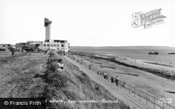 Lee On The Solent, Lower Cliff Walk c.1960, Lee-on-The-Solent